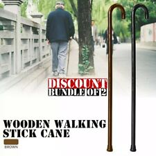 Lot Of 2 Canes | Wood Cane | Bundle Of Two | Wooden Walking Cane With Rubber Tip