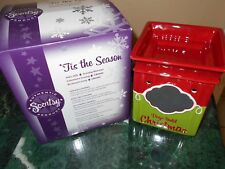 Scentsy TIS THE SEASON Full Size Warmer Candle Burner Christmas Countdown Chalk