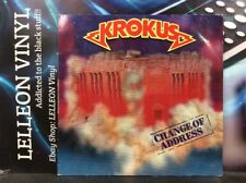 Krokus Change Of Address LP Album Vinyl Record 207647 A1/B1 Rock Metal 80's
