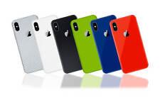 Textured Skin Sticker for iPhone XS  - Carbon - Gloss - Matt