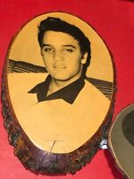 Elvis Presley portrait on wood  Cross section RARE Cool collectors item