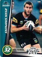 ✺New✺ 2014 PENRITH PANTHERS NRL Card RYAN SIMPKINS Power Play