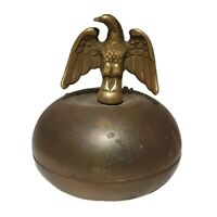 """Vintage Heavy Brass Eagle Round Bookend Paperweight Italy 4"""" Paramount AR mount"""