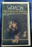 Waylon Jennings - 3 rare early albums - cassette, preowned