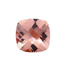 .85CT 6mm Natural Cushion Cut Morganite Loose Gemstones