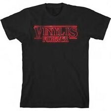 VINYL IS FOREVER - Stranger Things T-shirt - Size Large L - Record Store Day RSD