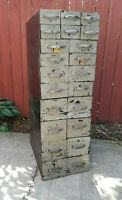 Antique Industial Masterpiece Steampunk Vintage Metal Parts Cabinet HAND WELDED
