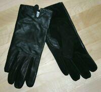 VALEUR 25€ TEX Taille S NEUF Superbe paire gants femme cuir noir croûte de porc