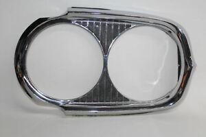 1964 Pontiac Grand Prix Catalina Silver Chrome Headlight Exterior Trim Bezel