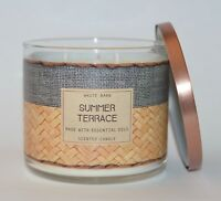 BATH BODY WORKS SUMMER TERRACE SCENTED CANDLE 3 WICK LARGE 14.5OZ ESSENTIAL OIL