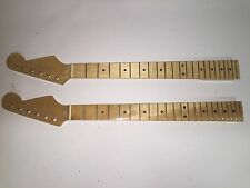2 Stratocaster Replacement Guitar Necks Flame Maple 22 Fret RH Strat 2-3/16