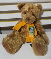 2003 AUSTRALIA RUGBY WORLD CUP TEDDY BEAR BERGDOFF RUSS BERRIE 40CM YELLOW SCARF
