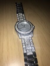 Diamond Silver Iced Out Watch