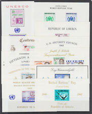 Liberia Sc C121a/C145 MNH. 1958-62 issues, 11 different Air Mail souvenir sheets