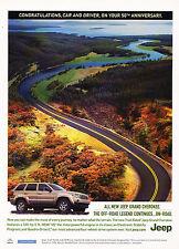 2006 Jeep Grand Cherokee Car Driver 50th Advertisement Car Print Ad J352