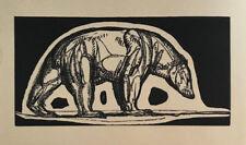 GRAVURE sur Bois Art Deco OURS POLAIRE de PAUL JOUVE woodcut polar bear eisbär