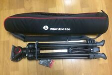 New Manfrotto MVK500AM Lightweight fluid video system/twin legs/middle spreader