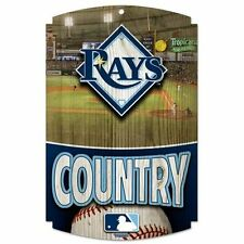 """TAMPA BAY RAYS COUNTRY WOOD SIGN 11""""x17"""" BRAND NEW FREE SHIPPING WINCRAFT"""