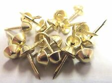 1,000 pcs Brass Plated Tapered Cone Head  Decorative Tack Nail Upholstery Stud