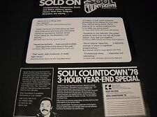 Spider Harrison 1978 Soul Countdown 3 Hour Year End Special Promo Poster Ad