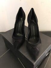 New Giuseppe Zanotti Lucrezia Black Mesh & Suede Heels EU SZ 36.5 $695