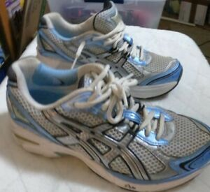 Asics GT-2130 Blue White Silver Sneakers Size 7 or Shoes Gel Solyte