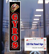 Gyros 48x12 led window sign vertical with gyro image