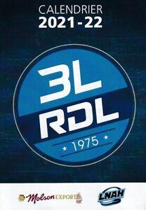 New --- 2021-22 LNAH' RIVIÈRE-DU-LOUP 3L Hockey Pocket Schedule!