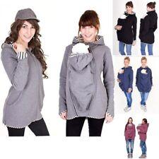 Maternity Baby Carrier Hoodie Jacket Kangaroo Outwear Pregnancy Coat Babywearing