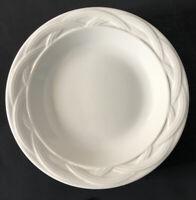 "Lot of 4 Pfaltzgraff ACADIA WHITE 7-1/4"" Salad Bread Dessert Plates Stoneware"