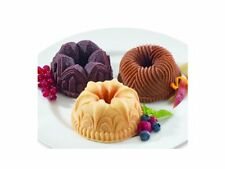 NEW NORDIC WARE GARLAND MINI BUNDT CAKE PAN JELLO MOLD CHRISTMAS HOLIDAY MAKES 6