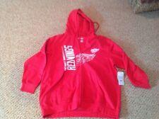 detriot redwings zipper fleece womens size 1xl