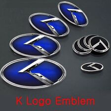 Blue K Logo Emblem 7pc Set Badge (Fit: KIA 2011-2017 Optima K5)