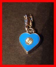 Herz mit Straß Charms Armband Anhänger Kettenanhänger m. Karabiner NEU    (a21)