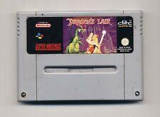 Super Nintendo SNES - DRAGON'S LAIR - PAL Super Nes