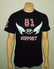 "Hells Angels Support 81 Shirt ""RESPECT"" Original 81 Support R&W Big Red Machine"