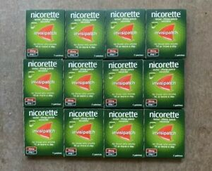 6x Nicorette Step 1 25mg Invisi Patches 7 Days Brand New Sealed EXP 2022-3