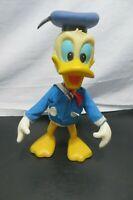 """Vintage Walt Disney Productions Donald Duck 8"""" Doll, 1960's Plastic/Rubber"""