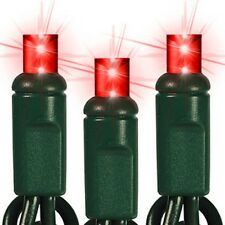 Red Led Mini Christmas Lights Wide Angle 5mm Lights Green Wire Set Of 70 24 Feet