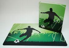 Schreibtischunterlage 40 x 60 cm Fußball/Fußballspieler mit Ordner DIN A4 grün