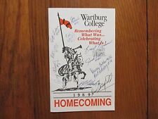 1989  Wartburg College Football Program (14  Signed/DON  CANFIELD/ERIC  WESSELS)