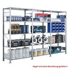 Industrie Steckregal (H x B x T 2000 x 3000 x 600) 15 Stahlböden mit je 85 kg