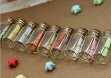 10 glass bottle Jars 50 mm.high with Cork cap Dollhouse miniature glass bottles