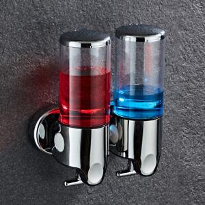 500ml Clear Wall Mounted Bathroom Soap Liquid Shampoo Dispenser Shower Gel Pump