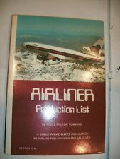 Airliner Production List (1978)  by Nigel Milton Tomkins