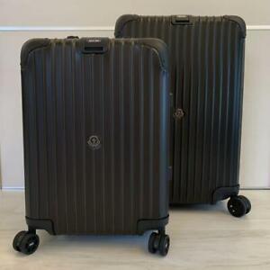 MONCLER × RIMOWA Carry Case 2 Size Set 32L & 64L Black [Brand-New]