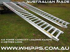 4.5 Tonne Capacity Machinery Aluminium Loading Ramps 4 Metres x 450mm track