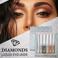 6pcs Liquid Eyeshadow Diamond Shimmer Matte Long Lasting shadow Eye F6R5