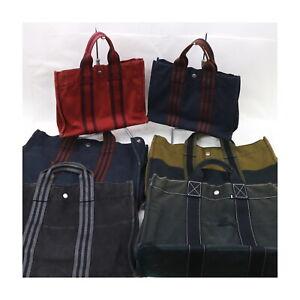 Hermes Canvas Tote Bag 6pc set Fourre Tout 30PM /42MM 522480
