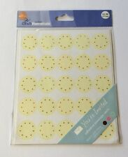YOU'RE INVITED Yellow Dot Embossed Envelope Sticker Seals(25pc)Joann•Wedding💍